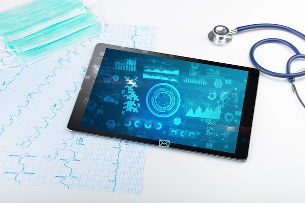 현대 의료 기술을 사용한 보고서 및 세포 구성 개념