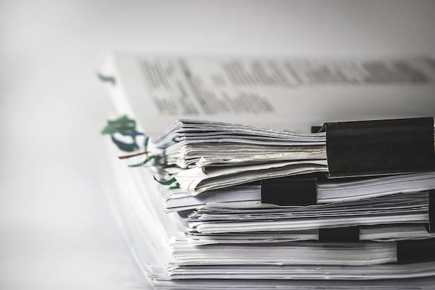 オフィス作業文書のスタッキングを報告する