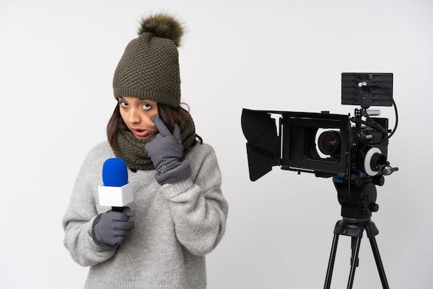 Репортер женщина
