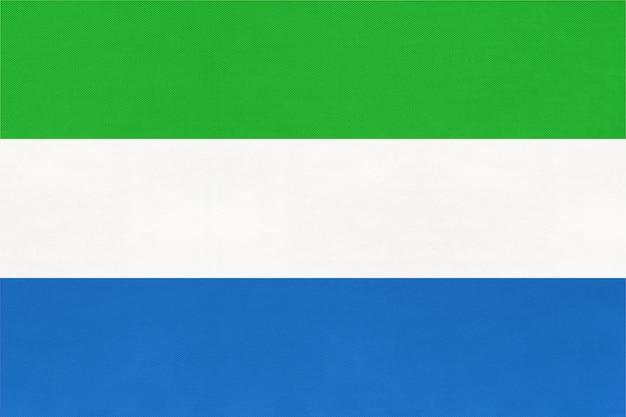 共和国シエラレオネ国立生地旗繊維の背景。