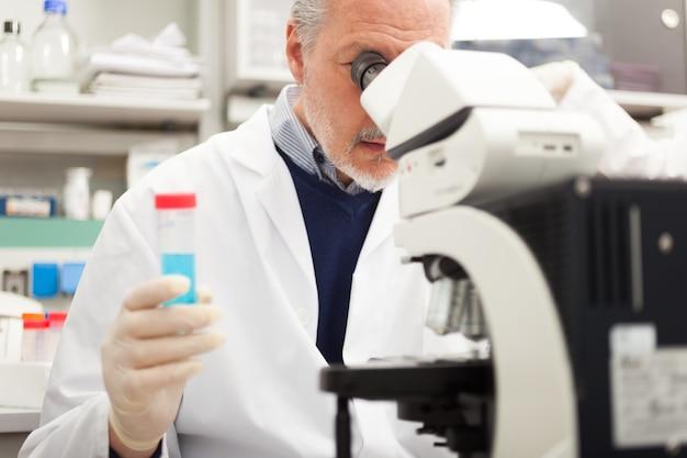 研究室で働く研究員