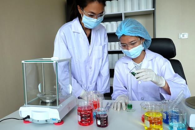 실험실에서 연구