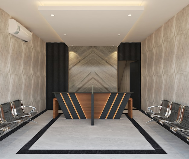 Reseptionist area of modern office