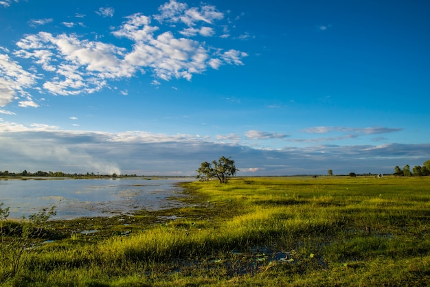 The reservoir for agriculture in the country of thailand.