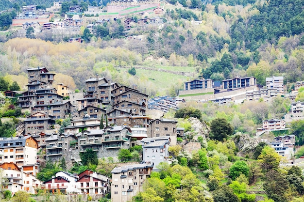 Residence district at mountains