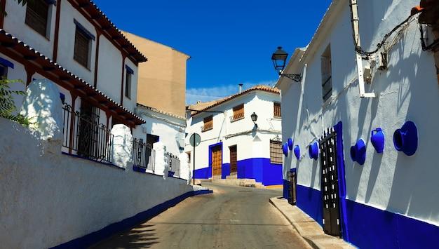 Residence street of campo de criptana