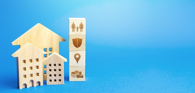 Residential buildings and blocks with the attributes of life. criteria choosing a residence place