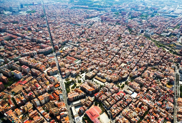 Residential district from helicopter. barcelona