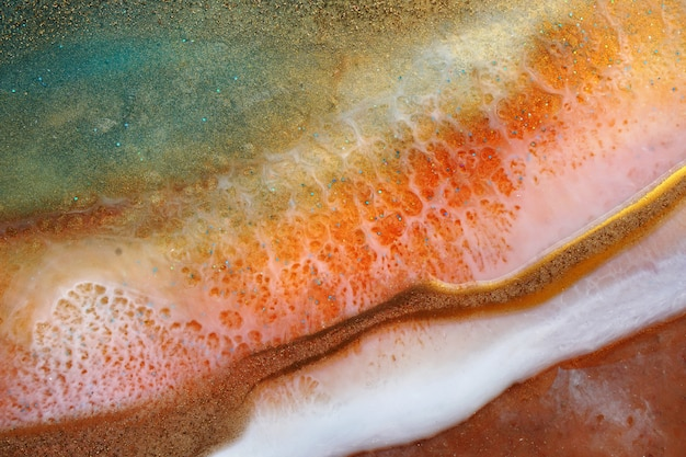 Resin fluid pouring art