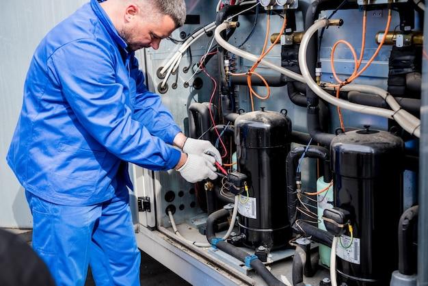 환기 장치 냉각 공급 섹션의 온도 센서 저항 테스트