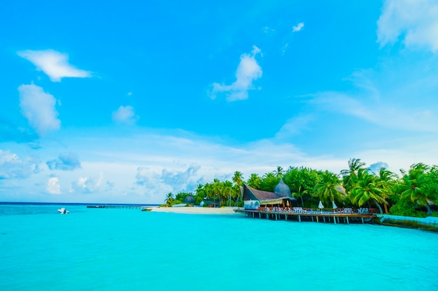 Resort exotic island blue sea