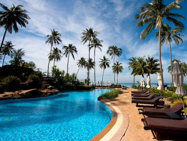 Resort hotel pool