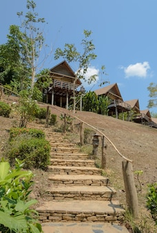 Resort house on the mountain in thailand