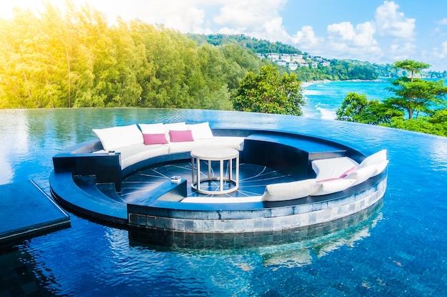 Resort terrazza balcone vista mare tropicale