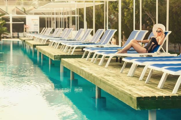 Resort swimming pool, pleasure