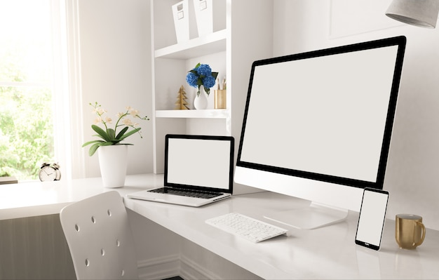 Responsive devices on home desktop