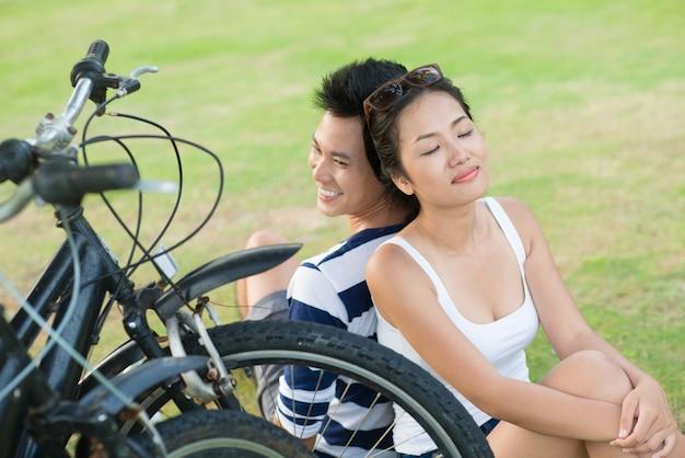 Rest after biking