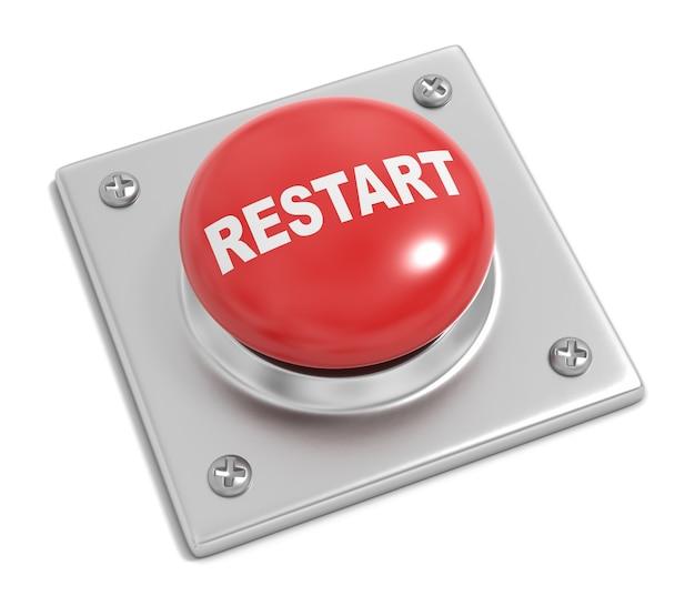 Кнопка перезапуска на белом