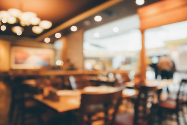 Restaurant cafe or coffee shop interior with people abstract defocused blur background