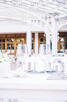 Ristorante di lusso elegante set pranzo