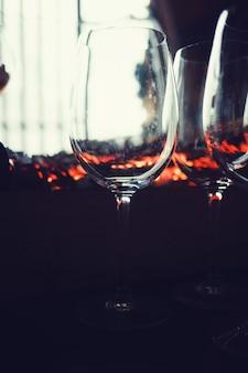 Restaurant glass of water