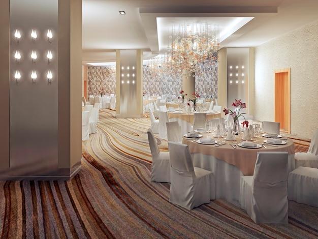 Restaurant interior design in contemporary style