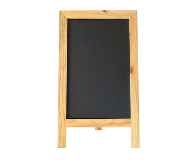 Restaurant menu blackboard, restaurant chalkboard on white isolated with clipping path.