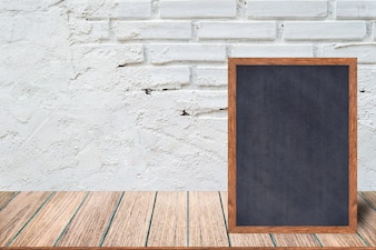 Restaurant Menu Boards & Signs on wooden table