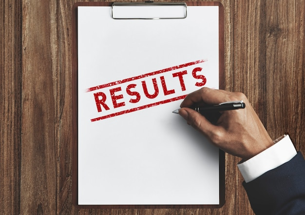 I risultati valutano i progressi risultato concetto di produttività