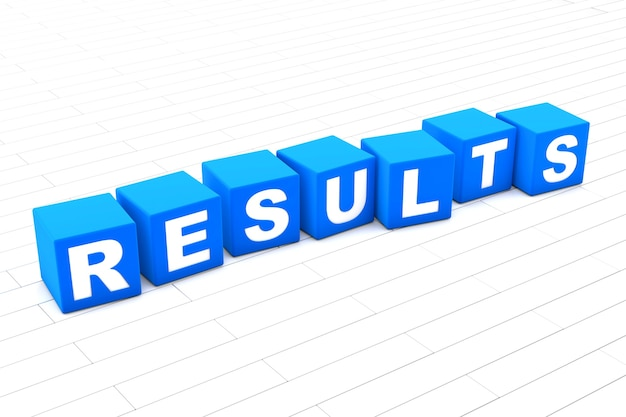 Results word illustration