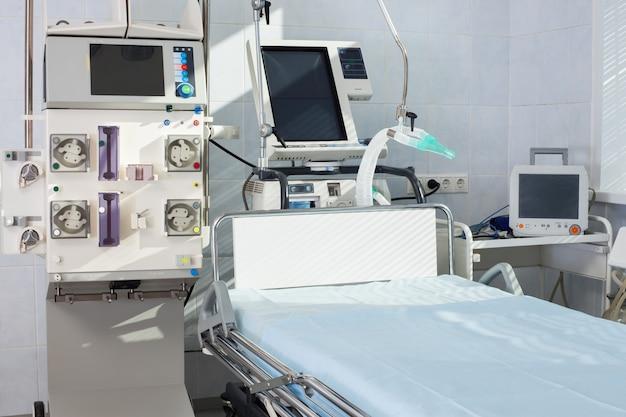 Реанимация на современном оборудовании. медицинское отделение неотложной помощи.