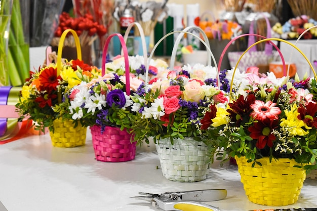 Retail sale of flowers