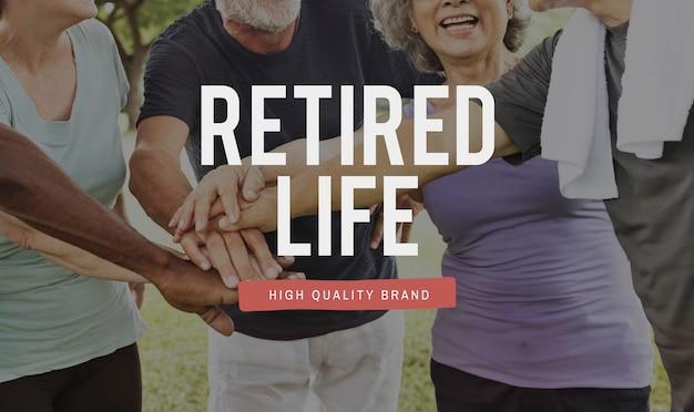 Retired life workout exercise icon