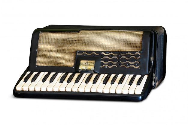 Retro accordion isolated