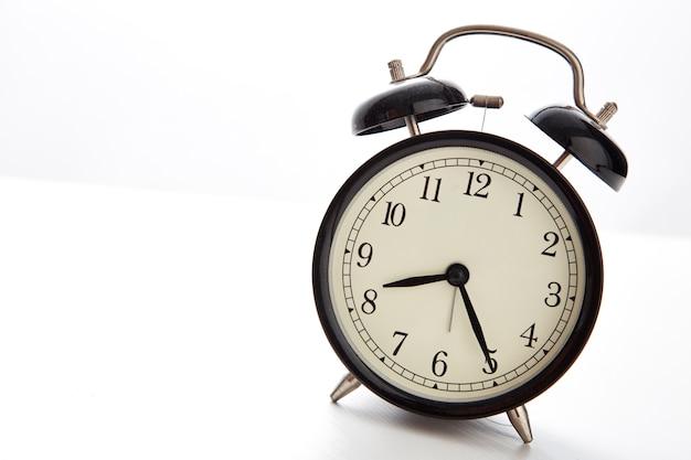 Retro alarm clock on a table