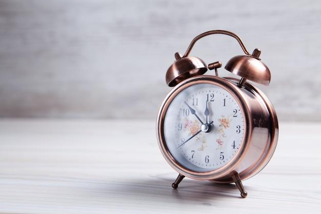 Retro alarm clock with bell