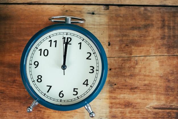 Retro alarm clock with copy specs for background