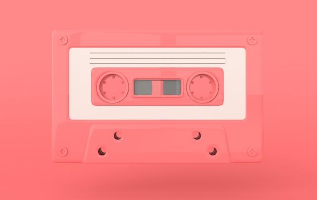 Retro audio cassette 3d render
