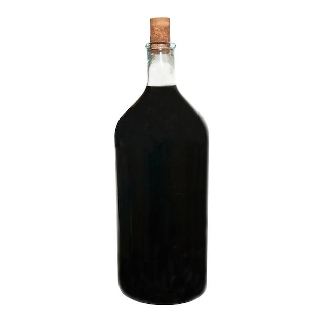 聖霊降臨祭で分離された赤ワインとレトロなボトル