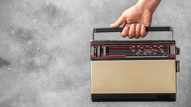 Ретро радиовещание радиоприемник копия пространства