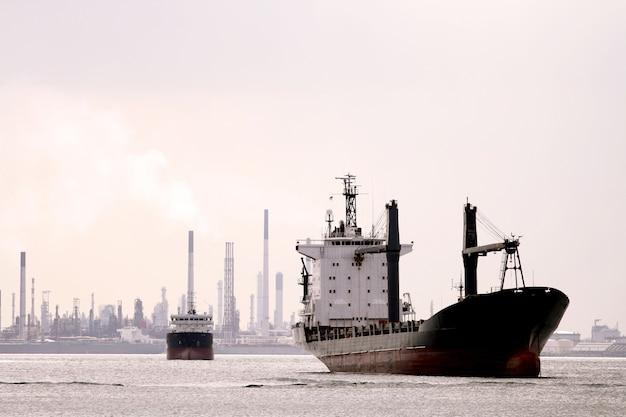 Retro cargo ship