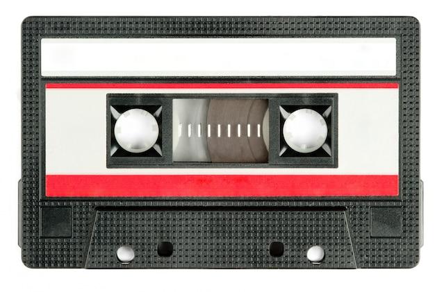 Retro cassette tape isolated