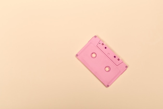 Retro cassette tapes on yellow