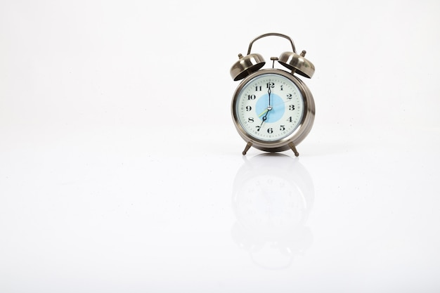 Retro clock. isolated on a white background.