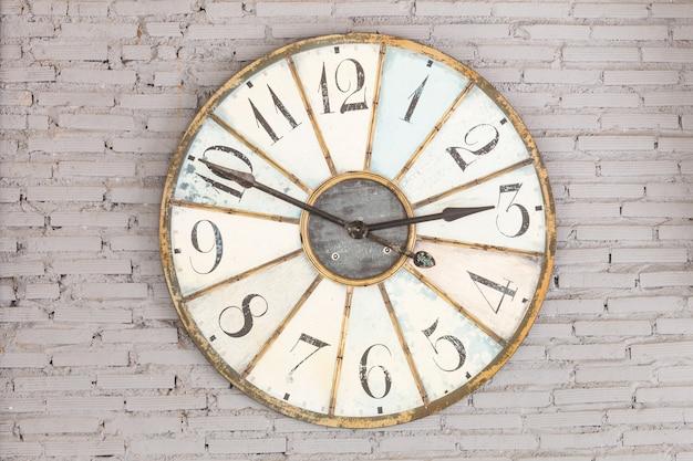 壁にレトロな時計