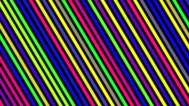 Ретро красочные линии, абстрактный фон. элегантная и роскошная динамичная геометрическая 3d-иллюстрация в стиле 80-х, 90-х годов