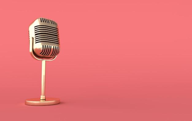 Retro concert microphone realistic render