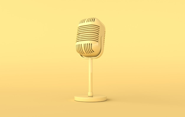 Ретро-концерт или радиомикрофон реалистичный рендер
