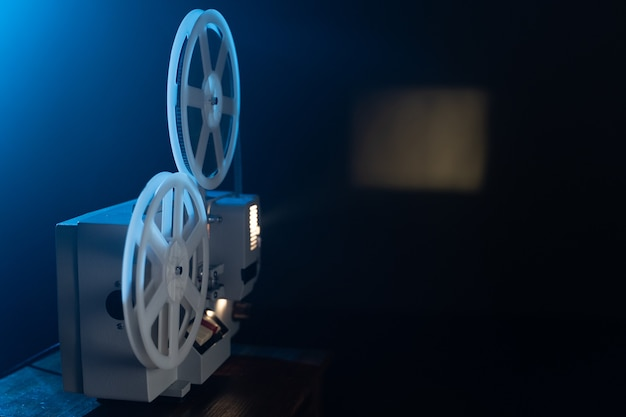 Retro film projector with 8mm coil reels