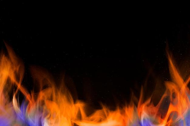 Retro fire flame border frame